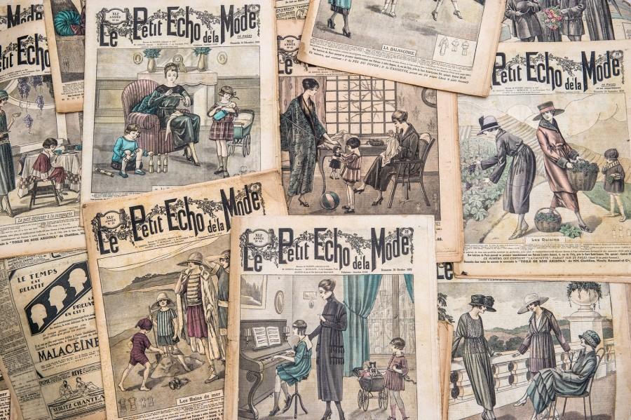 Paris fashion magazines ca 1910