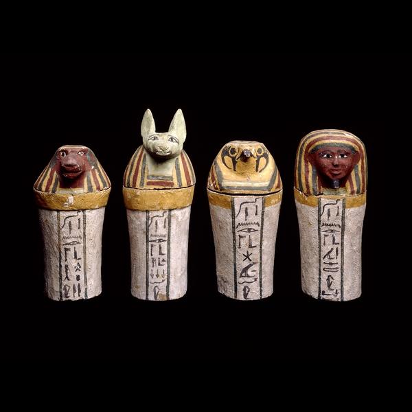 Canopic jars in the British Museum