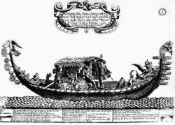 Granger Venetian gondola ca. 1689