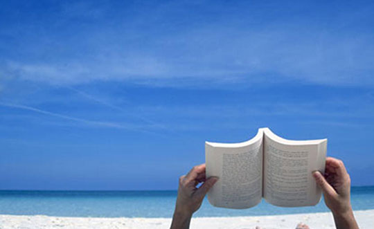reading-book-on-beach