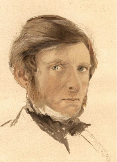 Self-portrait, John Ruskin, age 42