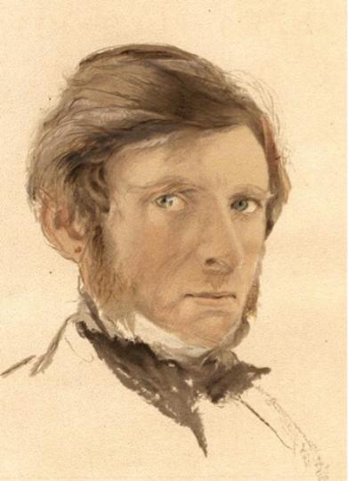 Self-portrait, John Ruskin, age 42