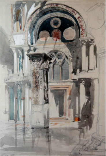 Part of St Mark's Basilica – the South side of the Baptistery, John Ruskin