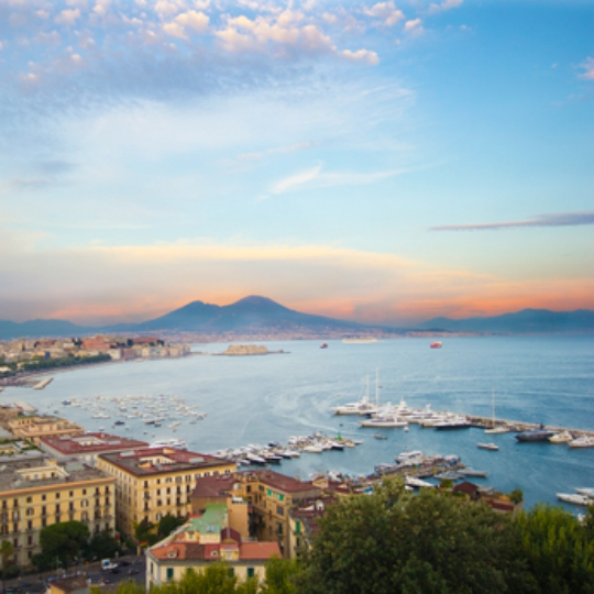 View of Naples from Posillipo, Italy