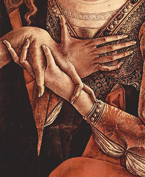 Carlo Crivelli detail Pieta